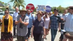 Democratic presidential hopeful Amy Klobuchar visits Florida migrant detention centre before debate