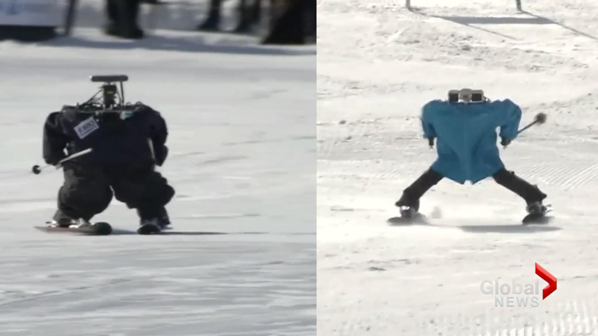 Skiing robots steal the show at Pyeongchang Winter Olympics