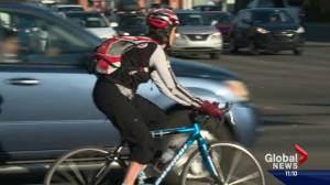 Edmonton inches closer to getting protected bike lanes downtown (01:55)