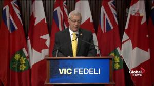 Vic Fedeli: Today it's morning in the PC party