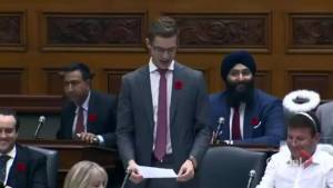 Ontario MPP performs carbon tax rendition of Monster Mash