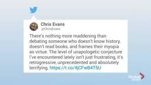 Chris Evans slams Kanye West in viral tweet