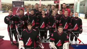 Team Brick Alberta introduced at West Edmonton Mall