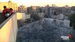 Palestinians awake to destruction after intensive Israeli air strikes