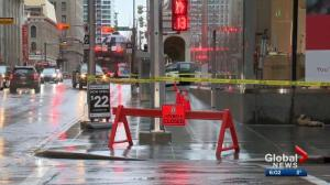 Danger of falling glass from Brookfield Place closes sidewalks downtown, again