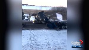 Serious crash on Highway 2 near Lacombe