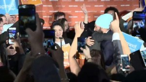 NDP leader Jagmeet Singh claims victory in byelection