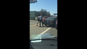 Man nearly run over during LA road rage brawl