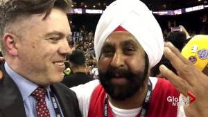 NBA Finals: 'This is a dream, but it's coming true': Raptors superfan Nav Bhatia celebrates in Oakland (00:54)