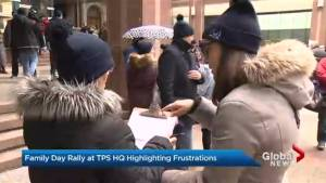 Toronto police families hold Family Day rally outside headquarters