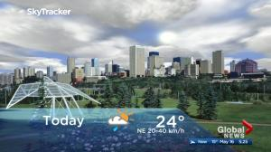 Edmonton early morning weather forecast: Wednesday, May 16, 2018