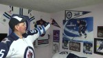 Winnipeg hockey fan shows off 'Jets Cave'