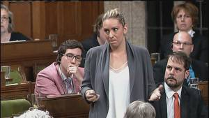 Ruth Ellen Brosseau says she was 'elbowed in the chest by the prime minister'