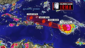 Hurricane Irma upgraded to Category 5 storm