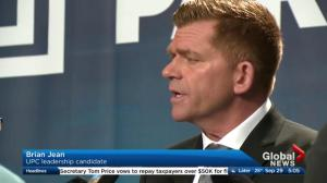 UCP leadership candidate Brian Jean apologizes for 'retarded' remark