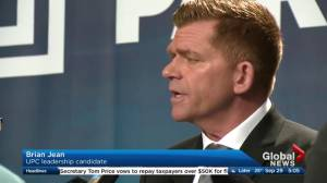 UCP leadership candidate Brian Jean apologizes for 'retarded' remark (02:08)