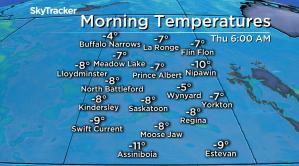 Saskatoon weather outlook: -13 wind chills Thursday morning
