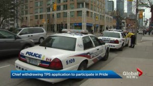 Toronto police withdraw application to march in Pride parade