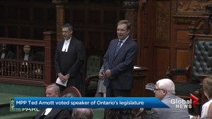 Ontario MPPs elect veteran PC Ted Arnott as speaker of the legislative assembly