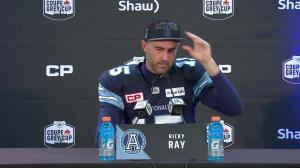 Argos QB Ricky Ray: 'I wasn't too happy with the snow'