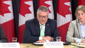 Public Safety Minister Ralph Goodale outlines screening process for potential refugee applpicants
