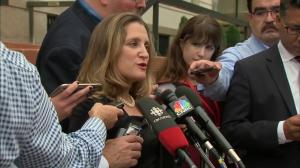 'At the end of the day, we're neighbours': Freeland acknowledges 9/11 anniversary as NAFTA talks resume