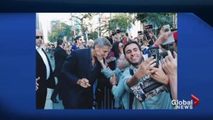 Clooney's interaction with elderly fan at TIFF goes viral