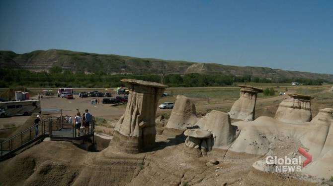 New pilot project sees Drumheller hoodoos visitors pay for parking