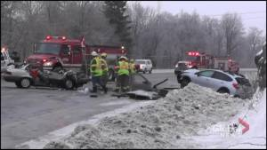 Collision on Highway 28 near Woodview