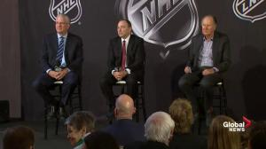 Bettman won't comment on Metropolitans as Seattle team name