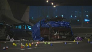 Two dead after multi-vehicle collision on QEW