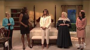 Melania Trump gets help from former first ladies in 'SNL' skit