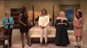 Melania Trump gets help from former first ladies in 'SNL' skit