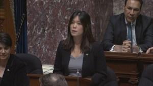 NDP MLA Bowinn Ma delivers Me Too speech in B.C. Legislature