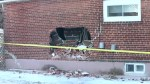 Suspects flee in bulldozer after smashing into east-end Toronto home: police