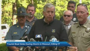 Tourist boat sinks during storm in Missouri, killing 17