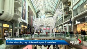 Eaton Centre sees thousands on busiest shopping day of year