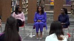 Michelle Obama meets students at her alma mater high school