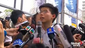 Hong Kong activist Joshua Wong released from prison, vows to join protests