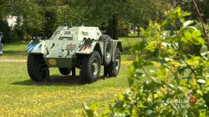 Armoured vehicle vandalized in Sacvkille, N.B.