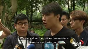Hong Kong protest organizers reassure 'peaceful, rational, non-violent' Sunday assembly