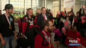 Team Canada Paralympians receive heroes' welcome at Calgary airport