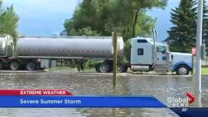 Trans-Canada highway flooded after storm