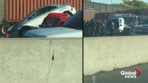 Multi-vehicle pile-up on westbound QEW causes major delays