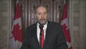 Mulcair urges EI, First Nations investments as Trudeau hits 100 days in office