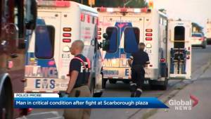 Man in critical condition after altercation at Scarborough plaza