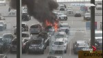 SUV erupts into flames at YVR airport's parkade