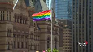 Rainbow flag raising at city hall kicks off inaugural Pride Month