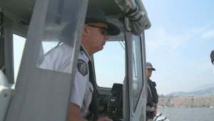 Global Okanagan News tags along with the RCMP marine patrol team