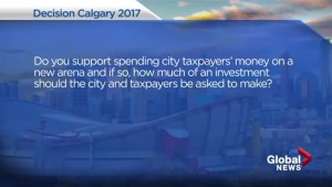 Calgary election 2017: Mayoral candidates answer your questions on a new arena